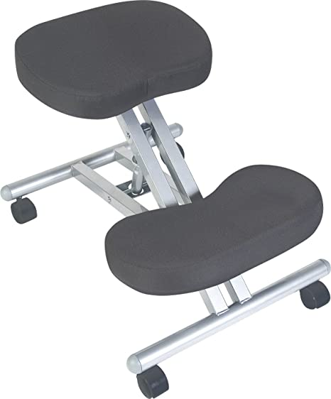 ergonomic posture kneeling chair steel frame with black fabric