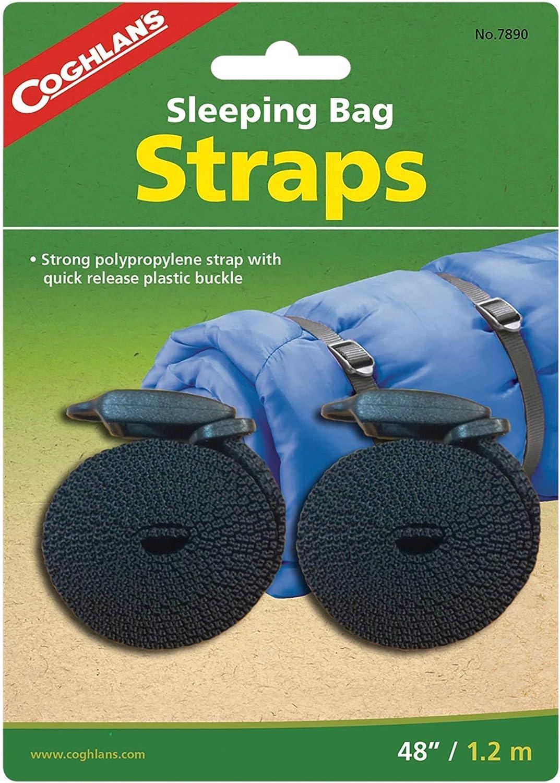 "Coghlan/'s Sleeping Bag Straps w//Tab Release Buckle 2-Pack 3//4/""x48/"" Polypropylene"