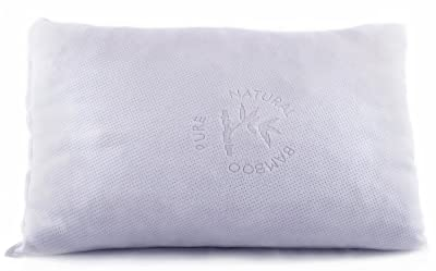 Good Life Essentials Shredded Memory Foam Pillow with Stay Cool Bamboo Cover