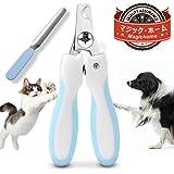 Magichome ペット用つめ切り ネイルトリマー ギロチンタイプ 小型犬・中型犬用 ペット用爪切り/ペンチ型/切り