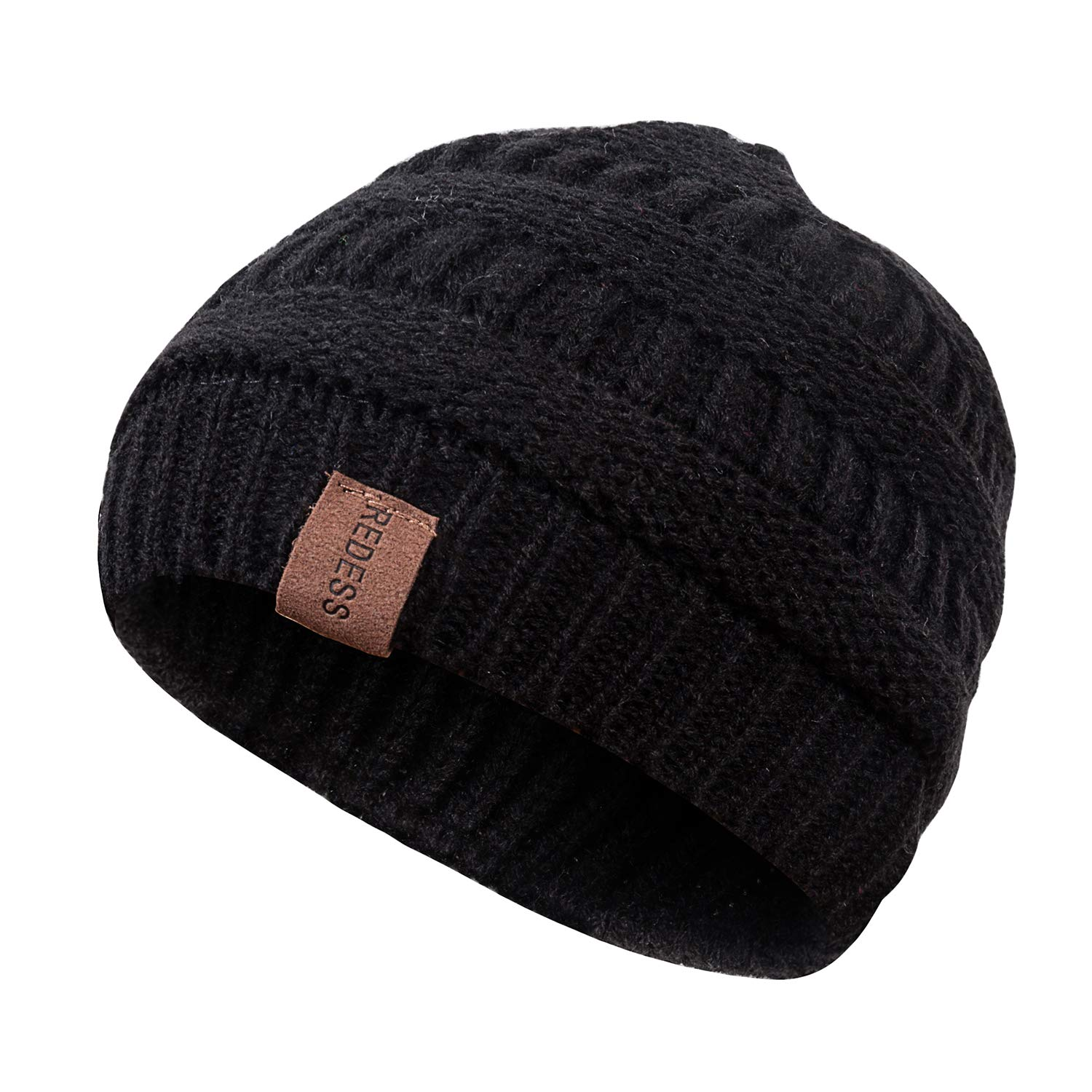 1c561f03d4f4e REDESS Kids Winter Warm Fleece Lined Hat, Baby Toddler Children's Beanie  Pom Pom Knit Cap for Girls and Boys