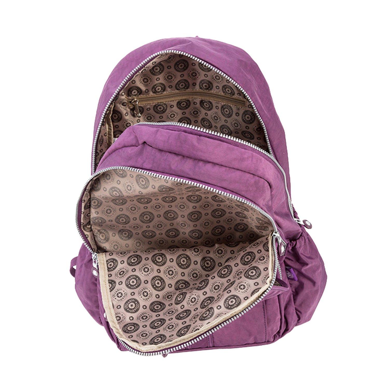 Amazon.com  School Backpack Teenage Girl Feminina Women Backpacks Female  Nylon Big Travel Backpack Laptop Color 11 27Cmx13Cmx37Cm 1365  Clothing d93283713c364