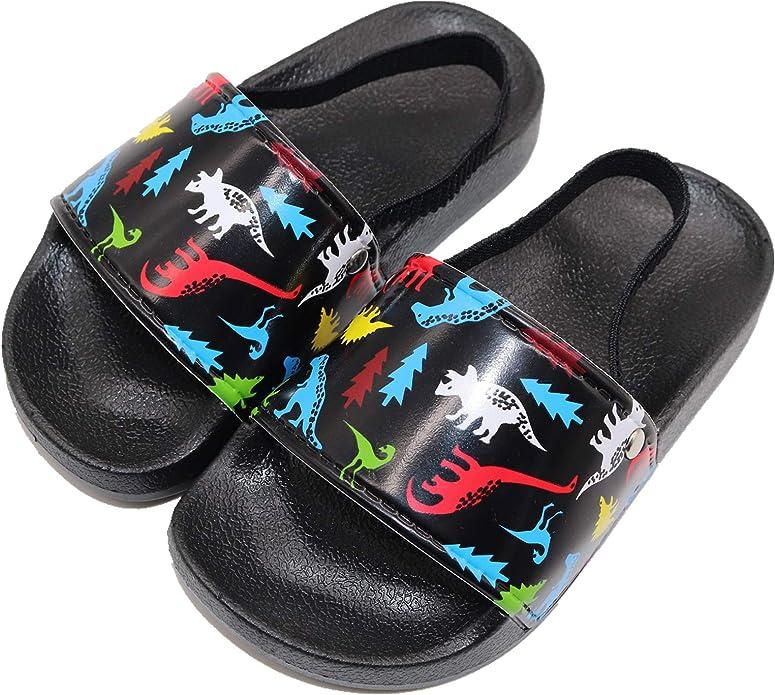 Kids Summer Slipper Cool Fire Soccer Ball House Slippers Shower Slide Anti-Slip Beach Pool Bath Sandals for Boys Girls