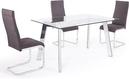 Adec - Mesa de comedor fija, mesa salon modelo Sweden, acabado ...