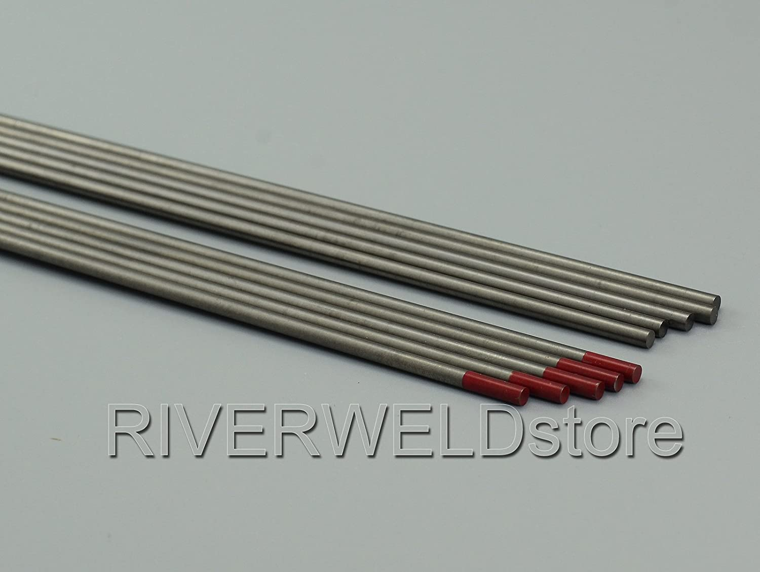 2/% thoriated WT20 Rouge soudage TIG electrode tungstene Lot de 10-2,4 x 175mm /& 3//32 x7