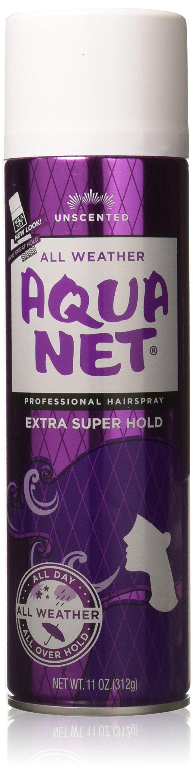 Aqua Net Extra Super Hold Professional Hair Spray Unscented 11 oz(Pack of 3)