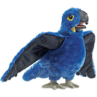 Folkmanis Blue Macaw Hand Puppet Plush: Toys & Games
