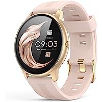 AGPTEK Smartwatch Mujer, Reloj Inteligente Deportivo 1.3 Pulgadas Táctil Completa IP68, Monitor de Sueño, Seguimiento…