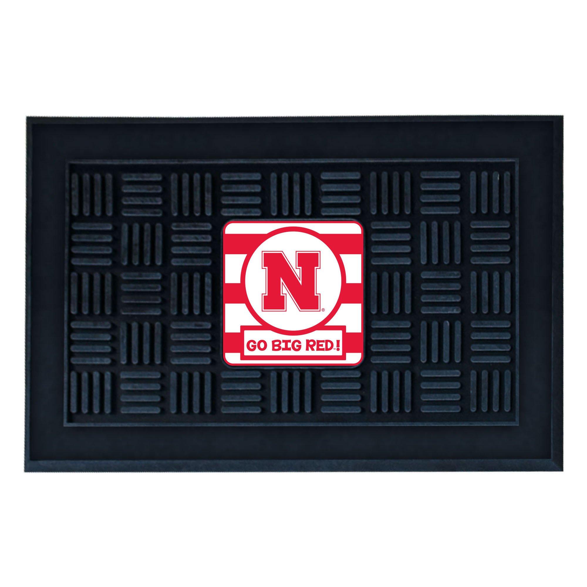 NCAA University of Nebraska - Blackshirts Cornhuskers 3-D Team Medallion Vinyl Door Mat