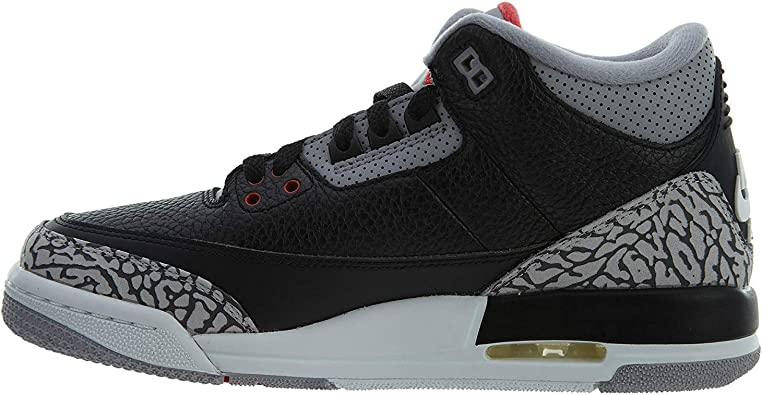 Nike Jordan Retro 3 OG negro/cemento negro/fuego red-cement gris (Big Kid)