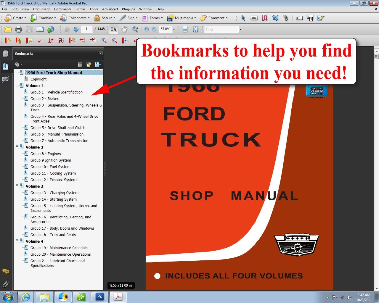 1966 Ford Truck Shop Manual: Ford Motor Company, David E. LeBlanc:  9781603710749: Amazon.com: Books