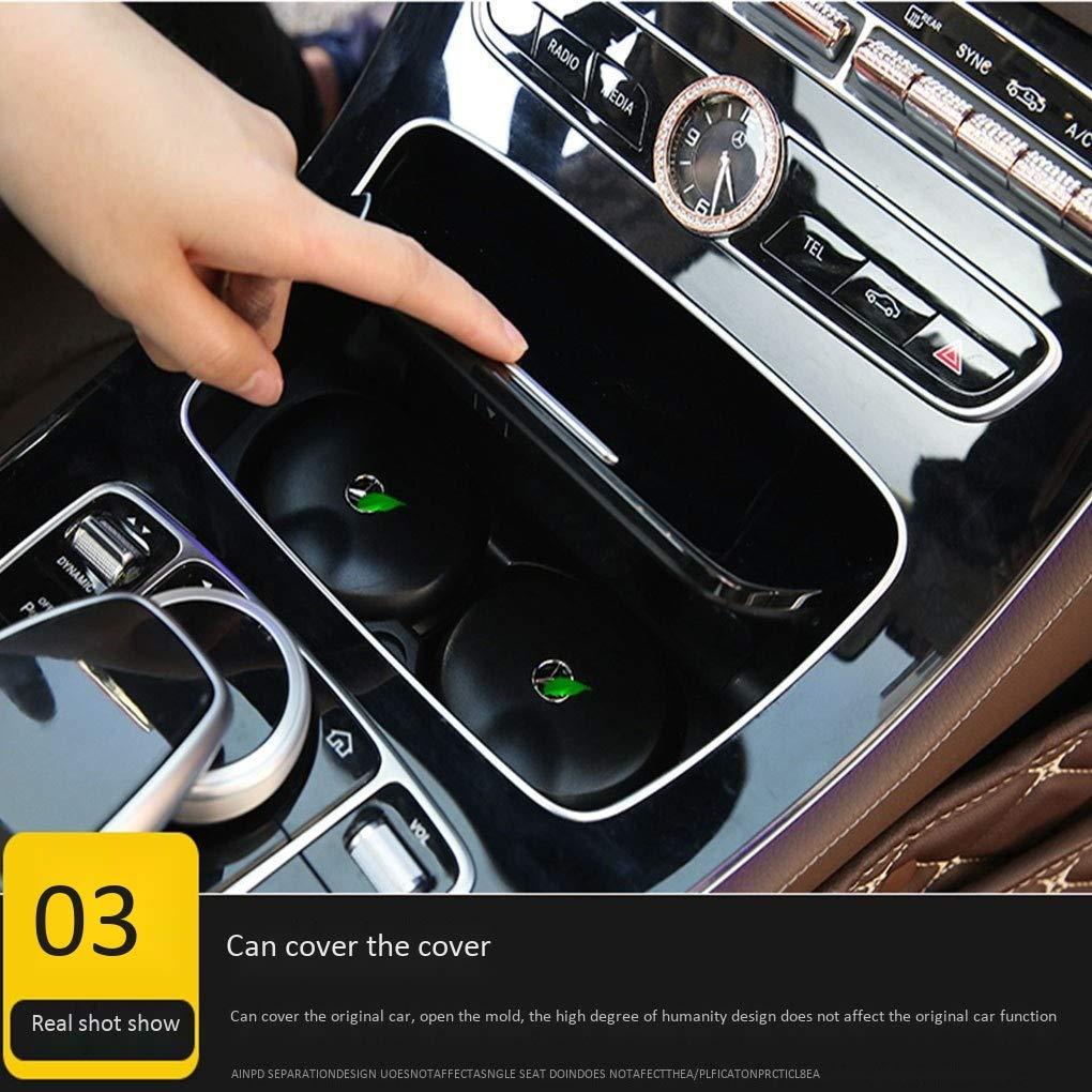 Aplicable al cenicero del autom/óvil Mercedes-Benz Nuevo C-class C200L Clase E GLC Cubierta de la l/ámpara Caja de almacenamiento 4S Compre con el mismo cenicero