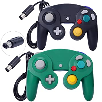 Amazon.com: 2 paquetes de control clásico Gamecube Shock ...
