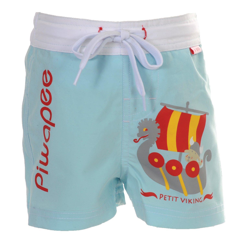 Piwapee–Pantaloncini con strato di Bagno Incastrabile Swim + Anti Fuga BLU CIELO Viking blu azzurro 8-11 KG ( 6-12M) 3700465372069
