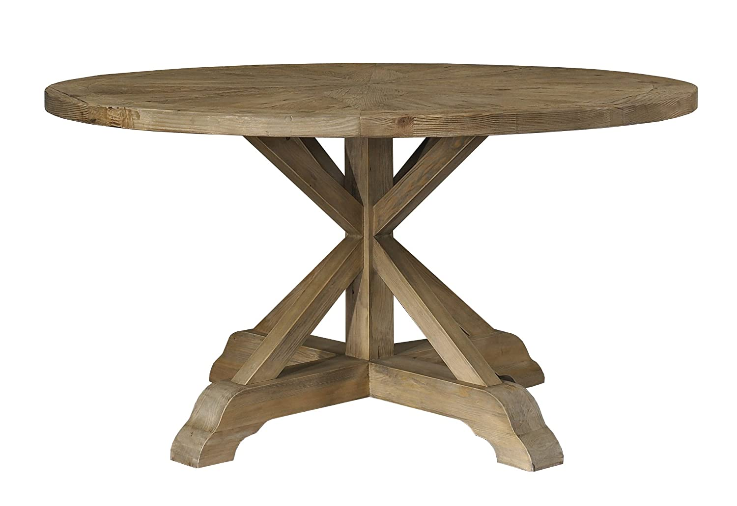amazoncom padmas plantataion salvaged wood dining table 60 inch round tables - Dining Table Round Wood
