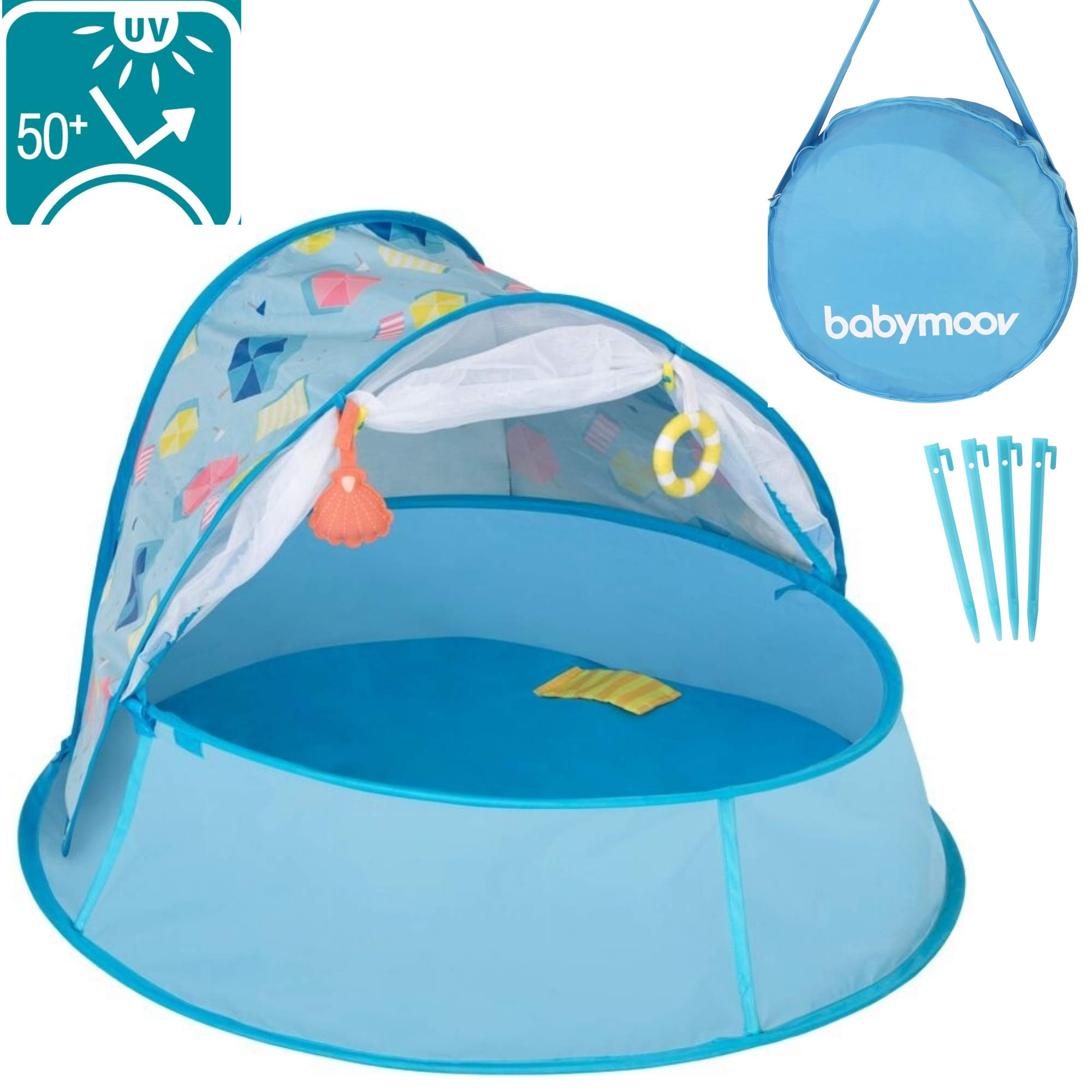 Babymoov Aquani Tent & Pool | 3 in 1 Pop Up Tent, Kiddie Pool and Play Yard (Summer 2019 Essential)