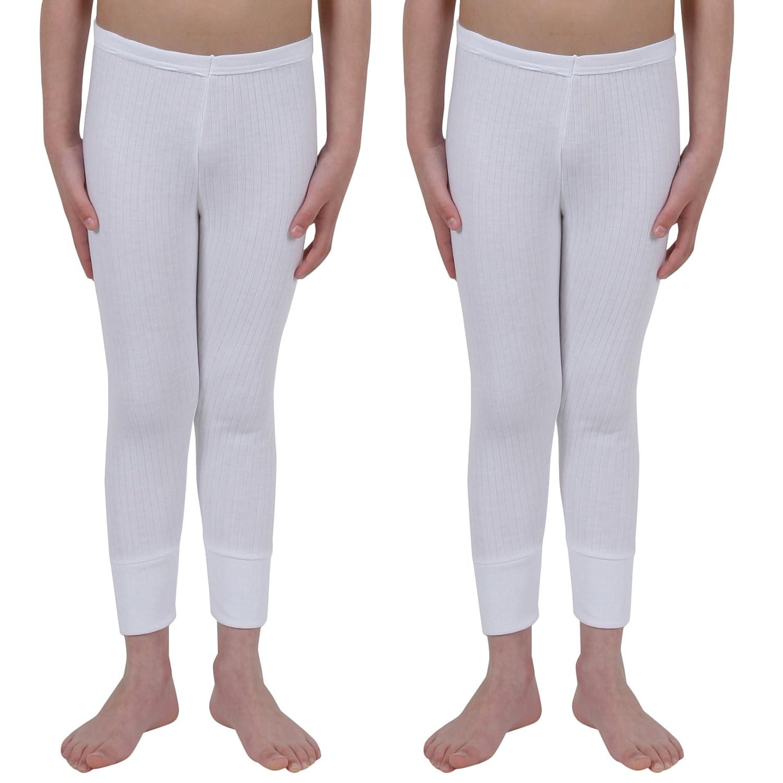 0b7038e4e888 2 Paquetes De Niños Ropa Interior Pantalones Largos Poliester/Viscosa,  Blanco 9-11