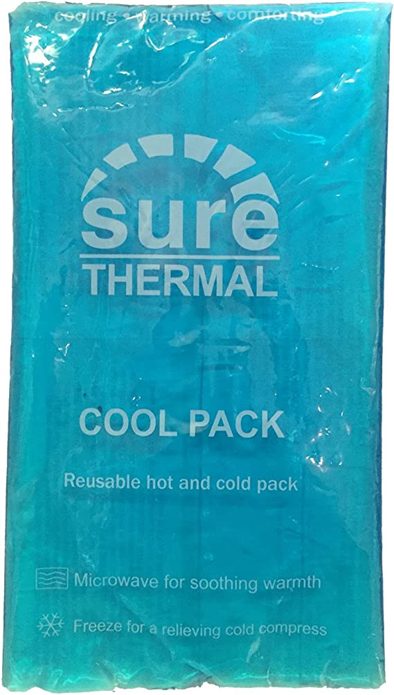 SURE THERMAL TRANSPARENT RE-USABLE LARGE GEL HOT/COLD HEAT COOL BACK MUSCLE JOINT PAIN FIRST AID MICROWAVE/FREEZE PACK by Sure Thermal: Amazon.es: Salud y cuidado personal