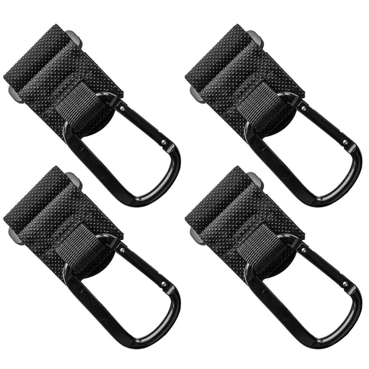 O-Best Stroller Hooks,4 Pack Baby Stroller Organizer Hook Clips to Hang Your Shopping & Bags Safely on Your Buggy Pushchair (Style A) by O-Best