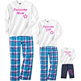 Footsteps Clothing Awesome Mom Pajamas and Awesome Girl Matching Playwear with Stars