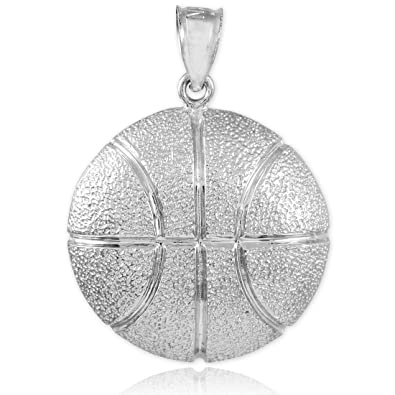 Amazon solid 925 sterling silver sports charm hammered solid 925 sterling silver sports charm hammered basketball pendant mozeypictures Images