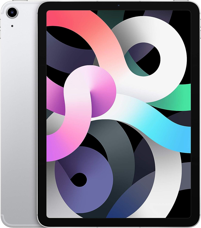 2020 Apple iPadAir (10.9-inch, Wi-Fi + Cellular, 64GB) - Silver (4th Generation)