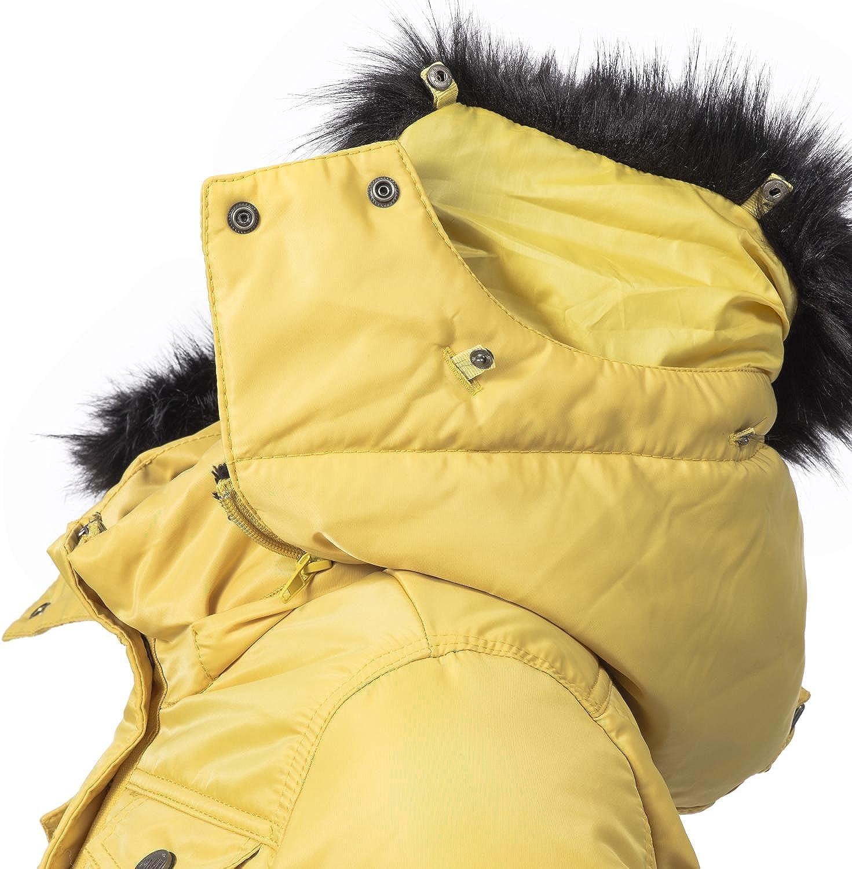 Navahoo Schätzchen Chaqueta Guateada de Invierno para Mujer con Capucha de Pelo sintético 8 Colores XS-XXL: Amazon.es: Ropa y accesorios