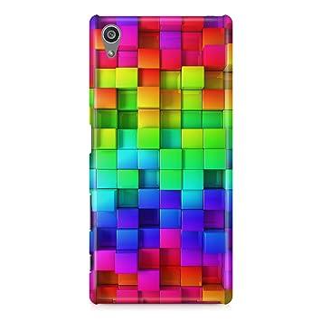 Carcasa Funda Protectora Case Mosaico Colores arcoíris RGB ...