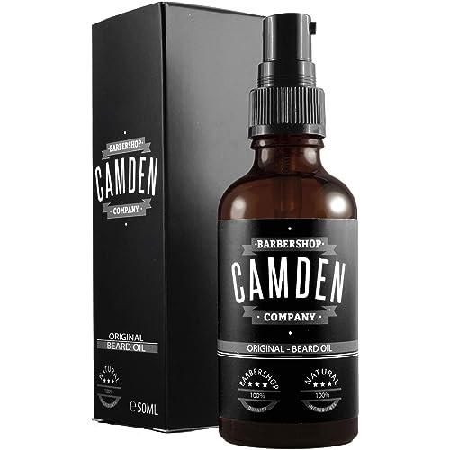 GANADOR DEL TEST 2019 Aceite para barba ORIGINAL de Camden Barbershop Company cuidado de la barba completamente natural refrescante y suavizante 50 ml