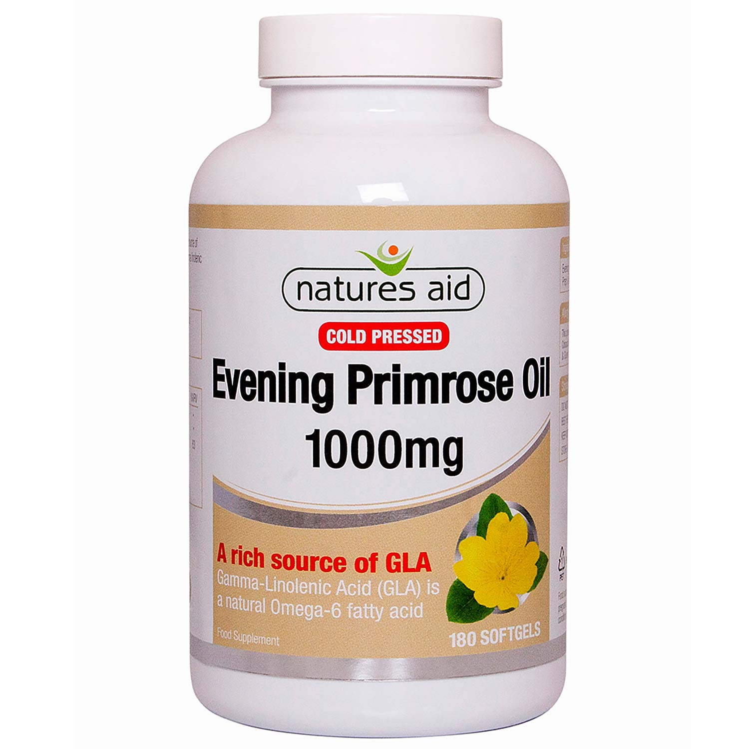 Natures Aid Evening Primrose Oil Cold Pressed 180 X 1000Mg
