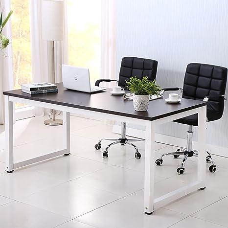 Remarkable Mecor 43Large Mdf Computer Office Desk Pc Laptop Table Study Work Station Home Office Furniture Black Home Interior And Landscaping Transignezvosmurscom