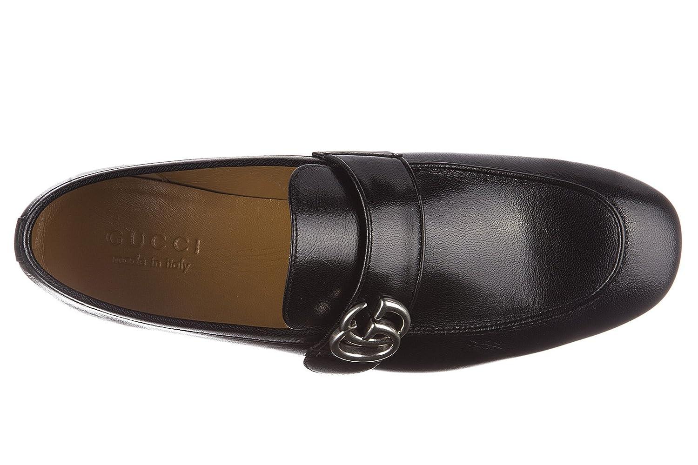 Gucci Mocasines en Piel Hombres Nuevo Quentin Negro: Amazon.es: Zapatos y complementos