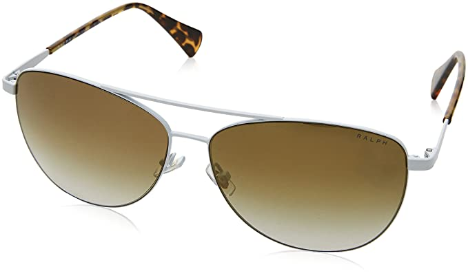 Amazon.com: Ralph Lauren ra4122 32356u White ra4122 Aviator ...