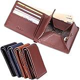二つ折り財布 本革 メンズ レディース ブランド 人気 ボックス型小銭入れ 大容量 おしゃれ 薄い PABIN