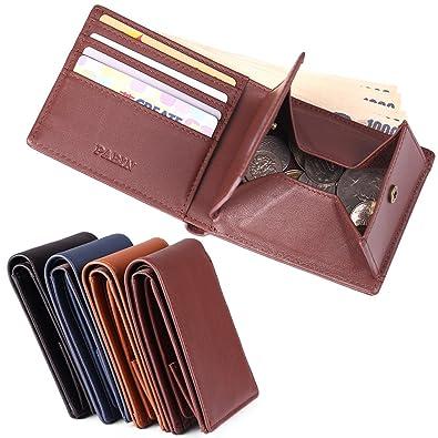 96608e0f2607 二つ折り財布 本革 メンズ レディース ブランド 人気 ボックス型小銭入れ 大容量 おしゃれ