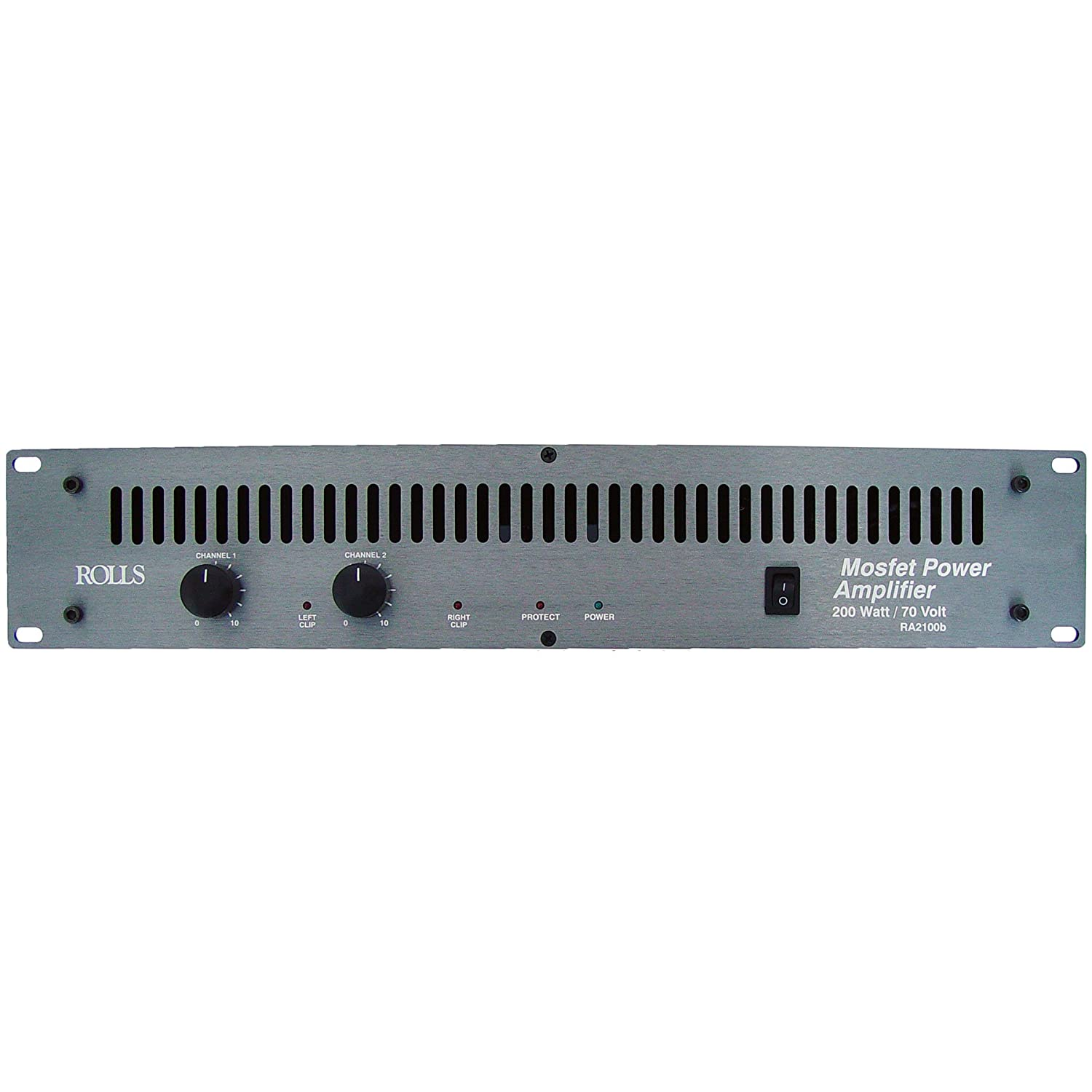 Rolls Ra2100b 2 Channel 100 Watts Rms 4 Ohms Collection Scheme Audio Power Amplifier High Mosfets Musical Instruments