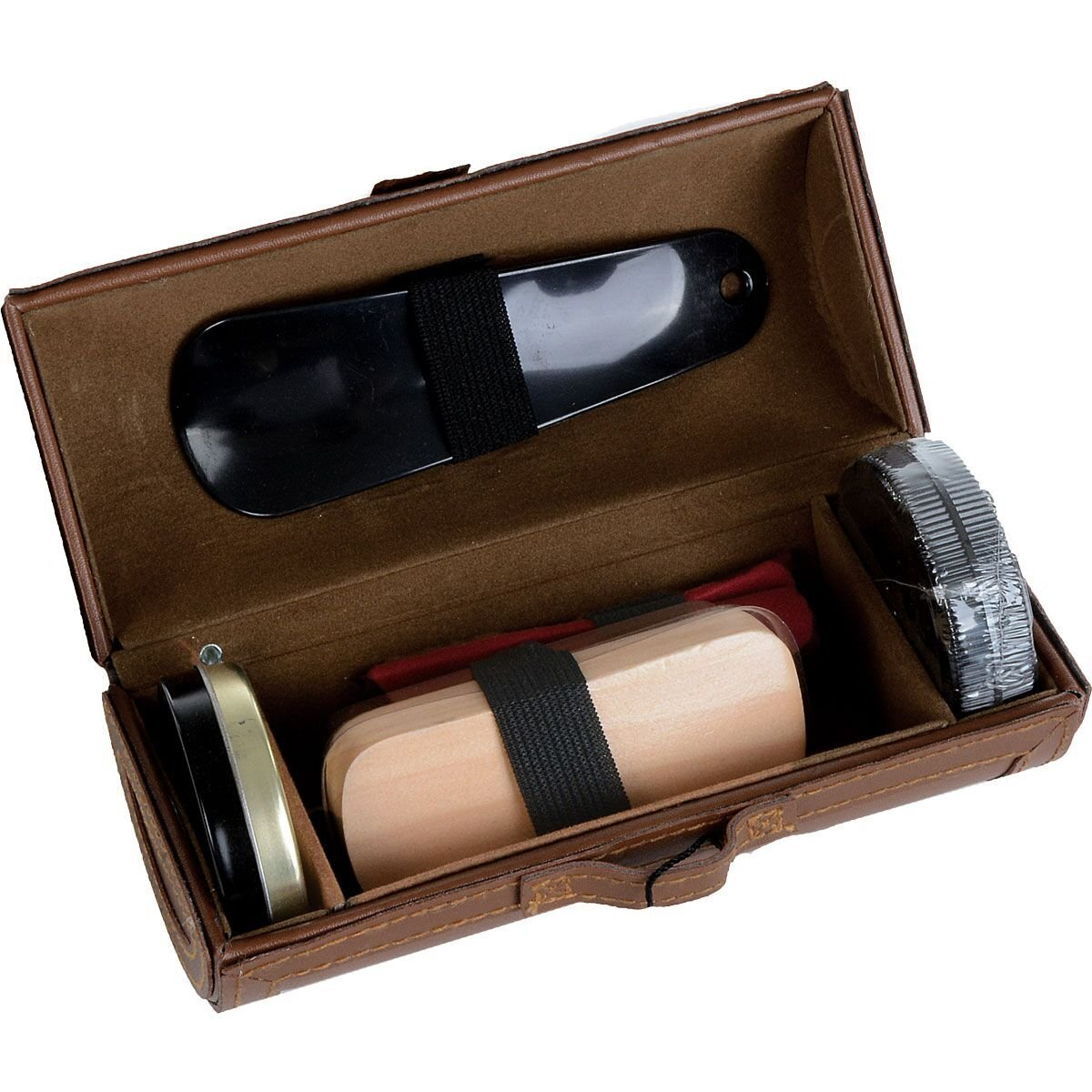 Mad Style Travel Shoe Shine Kit (Brown)
