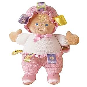 Mary Meyer Taggies Developmental Baby Doll, Pink, 8-Inch