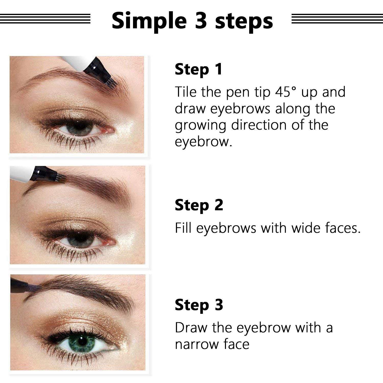 Amazon Tattoo Eyebrow Pen Liquid Eyebrow Pencil With Four Tips