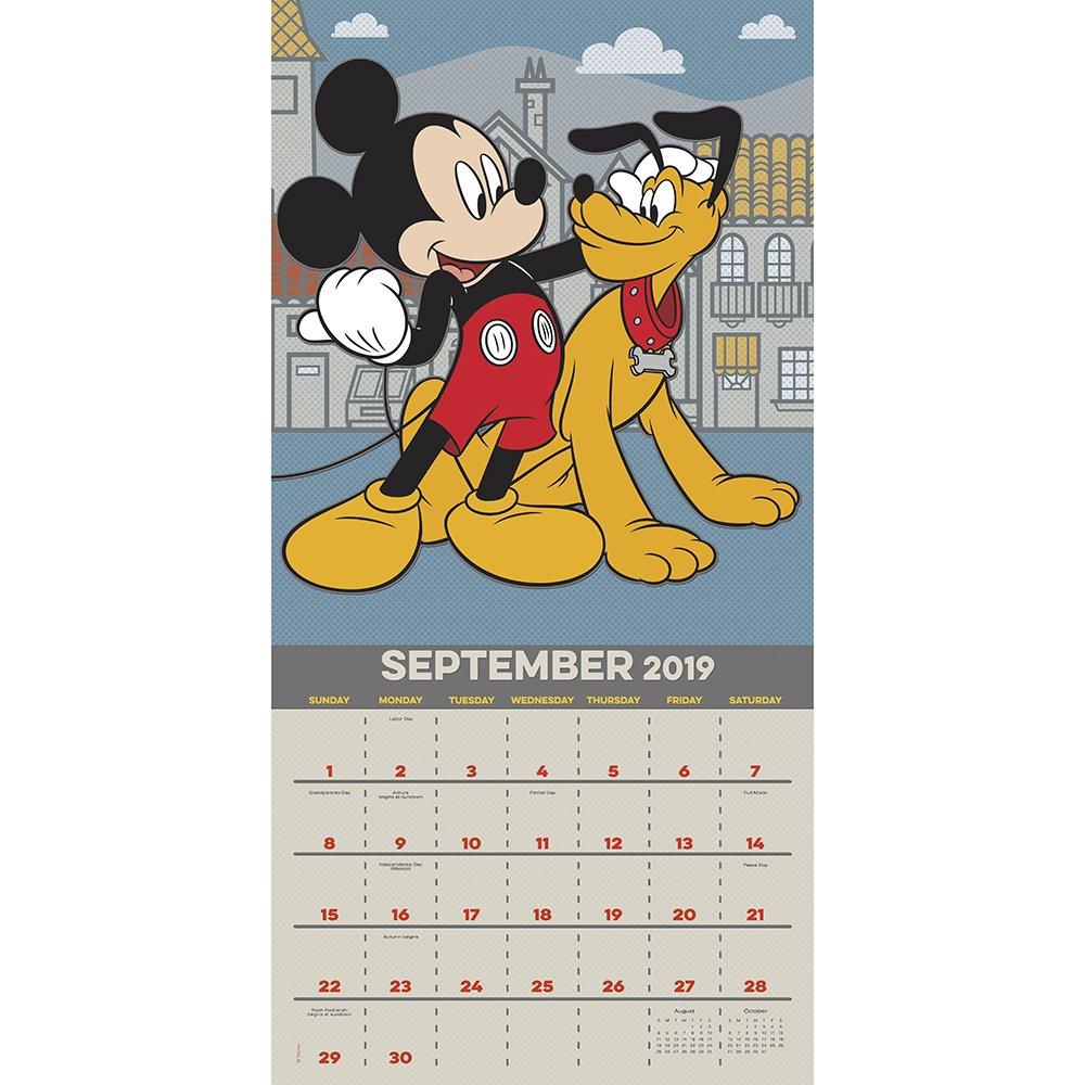Mickey Mouse Wall Calendar (2019): Mead: 9781635715040: Amazon com