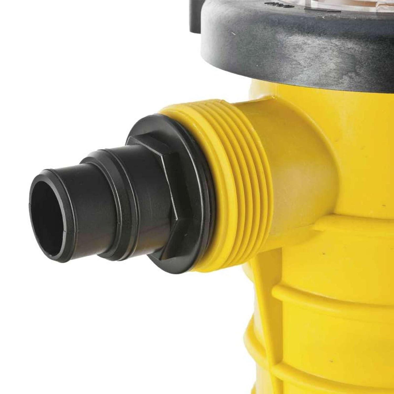Mareva 07273 Pompe de Piscine D/ébit 6.5 m/³//h Puissance 0,25 CV Jaune