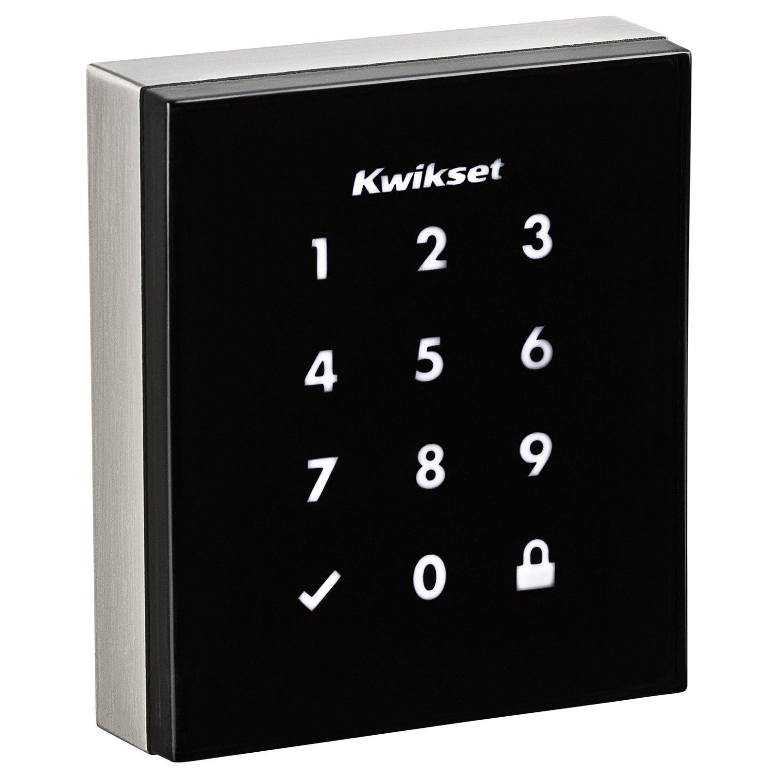 Kwikset 99530-001 Obsidian Slim Modern Electronic Touchscreen Keyless Deadbolt Satin Nickel