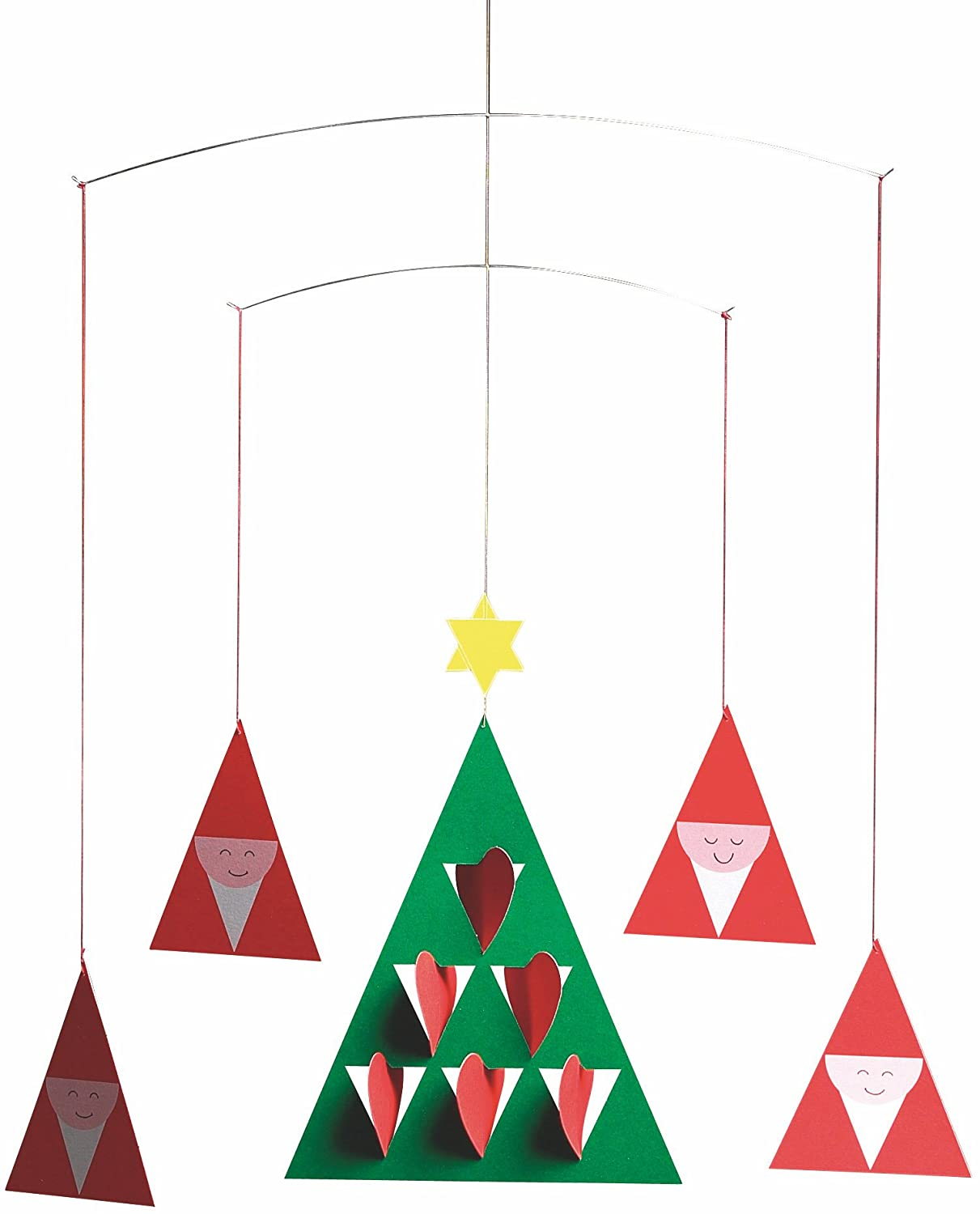 Flensted Mobiles Prismas Hanging Mobile - 14 Inches - Steel f138