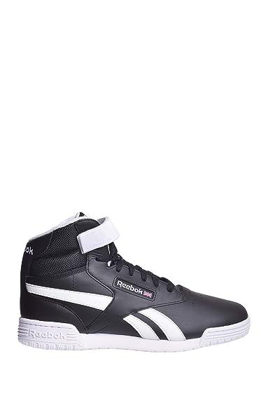 Amazoncom  Reebok Mens ExOFit Clean Hi Sneaker  BlackWhite  Fashion  Sneakers