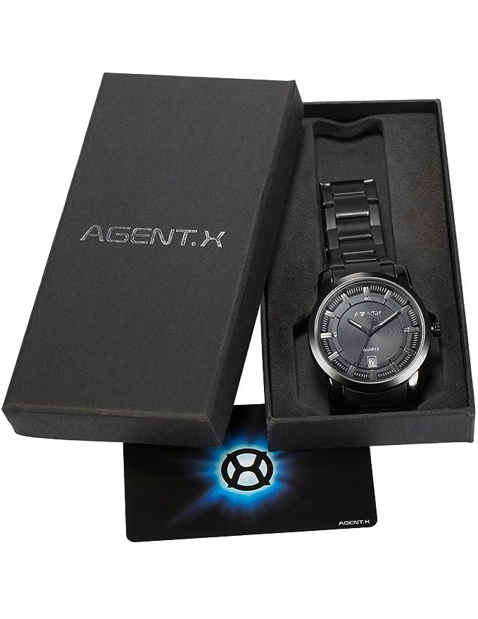 Amazon.com: Agent X Mens AGX131 Analog Japanese Quartz Date ...