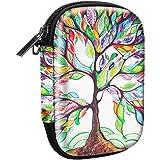 Fintie Funda Portátil para HP Sprocket Impresora Fotográfica - Bolsa Caja del Viaje Duro EVA a Prueba de Choques con el Bolsillo Interno, Love Tree