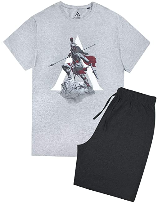 Assassins Creed Men/'s Pyjama Shorts Lounge Set