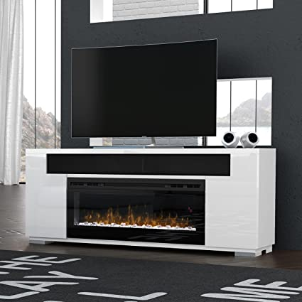 Miraculous Dimplex Haley Media Console Electric Fireplace With Soundbar 50 Firebox White Download Free Architecture Designs Estepponolmadebymaigaardcom