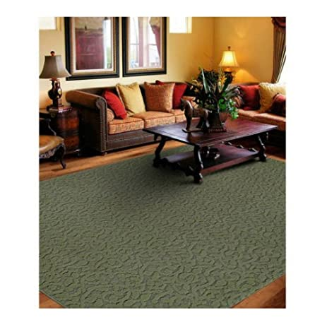 Attirant Simple And Affordable Ivy Pattern Area Rug Or Runner, (6X9, Sage)