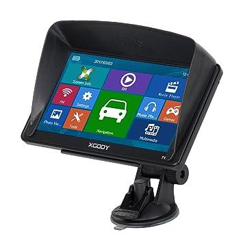 Xgody 712 - Sistema de Navegación GPS de 7 Pulgadas con Pantalla Táctil capacitiva de 8 GB ROM mapas de por Vida actualizaciones de Dirección: Amazon.es: ...